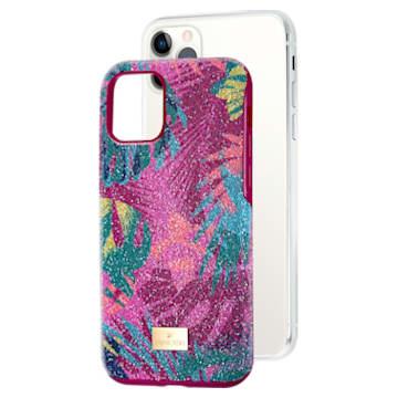 Coque rigide pour smartphone avec cadre amortisseur Tropical, iPhone® 11 Pro, multicolore sombre - Swarovski, 5533960