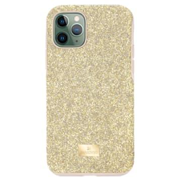 High smartphone case , iPhone® 11 Pro, Gold tone - Swarovski, 5533961