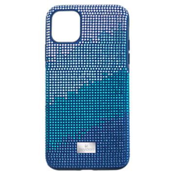 Coque rigide pour smartphone avec cadre amortisseur Crystalgram, iPhone® 11 Pro Max, bleu - Swarovski, 5533965
