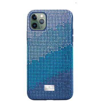 Custodia per smartphone con bordi protettivi Crystalgram, iPhone® 11 Pro Max, azzurro - Swarovski, 5533965