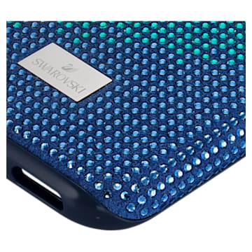 Crystalgram 智能手機防震保護套, iPhone® XS Max, 藍色 - Swarovski, 5533972