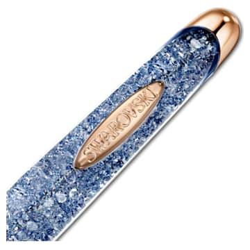 Stylo à bille Crystalline Nova Anniversary, bleu, métal doré rose - Swarovski, 5534317