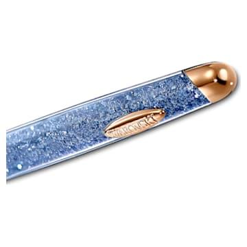 Penna a sfera Crystalline Nova Anniversary, azzurro, placcato color oro rosa - Swarovski, 5534317