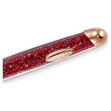 Crystalline Nova 圓珠筆, 紅色, 鍍玫瑰金色調 - Swarovski, 5534323