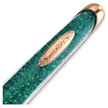 Długopis Crystalline Nova, zielony, powłoka w odcieniu różowego złota - Swarovski, 5534326