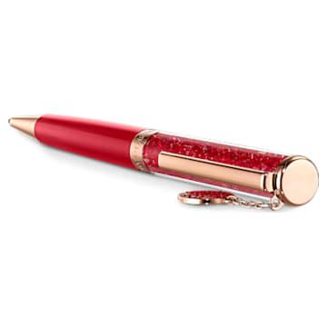 Full Blessing Fu 圓珠筆, 紅色, 鍍玫瑰金色調 - Swarovski, 5534336