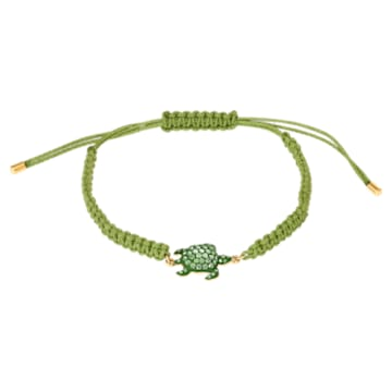 Braccialetto Mustique Sea Life Turtle, verde, placcato color oro - Swarovski, 5534344