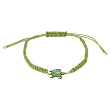 Bransoletka Mustique Sea Life Turtle, zielona, powłoka w odcieniu złota - Swarovski, 5534344