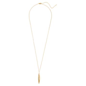 Gilded Treasures 鏈墜, 白色, 鍍金色色調 - Swarovski, 5534425