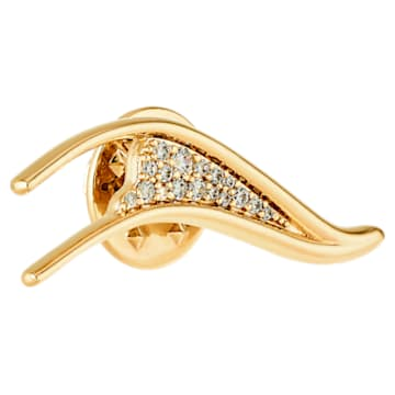 Gilded Treasures Brooch, White, Gold-tone plated - Swarovski, 5534503