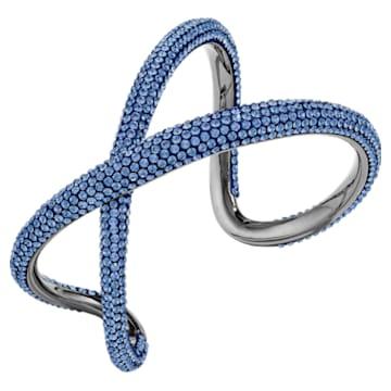 Bracciale rigido Tigris, blu, placcato rutenio - Swarovski, 5534521