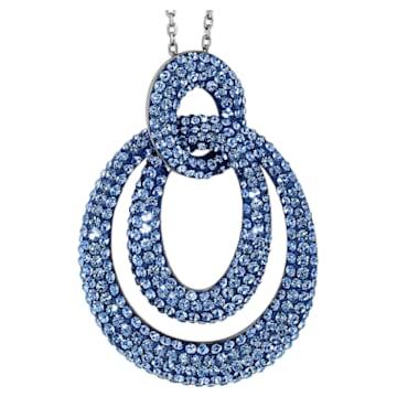 Pendentif Tigris, Bleu, Métal plaqué ruthénium - Swarovski, 5534522