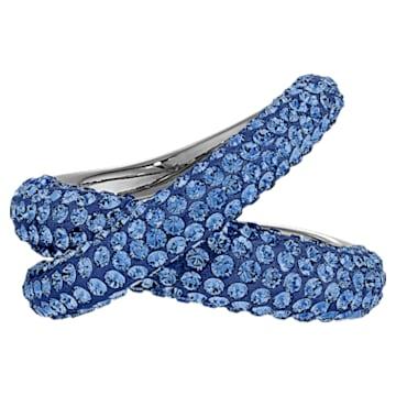 Bague Tigris, bleu, métal plaqué ruthénium - Swarovski, 5534525