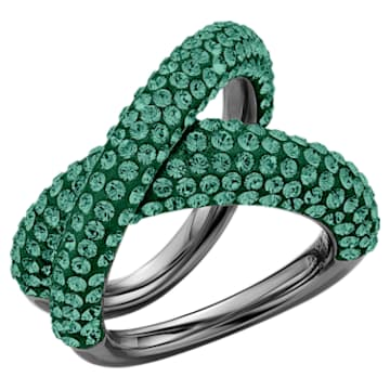 Tigris Ring, Green, Ruthenium plated - Swarovski, 5534529