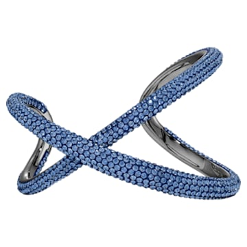 Brazalete Tigris, azul, baño de rutenio - Swarovski, 5534537