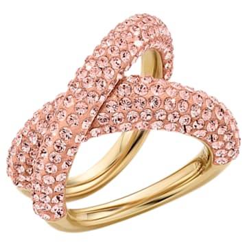 Bague Tigris, rose, métal doré - Swarovski, 5534543
