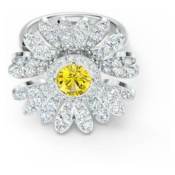 Anello Eternal Flower, giallo, mix di placcature - Swarovski, 5534936