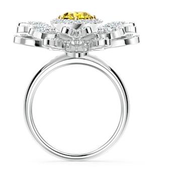 Anel Eternal Flower, amarelo, acabamento em vários metais - Swarovski, 5534936
