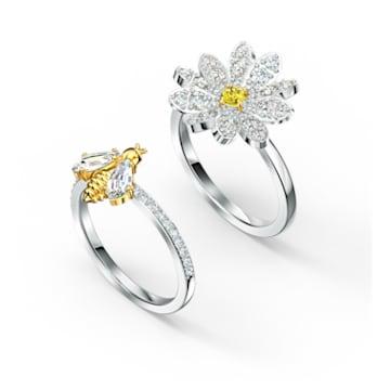 Conjunto de anéis Eternal Flower, amarelo, acabamento em vários metais - Swarovski, 5534937
