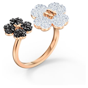 Latisha Ring, Black, Rose-gold tone plated - Swarovski, 5534939