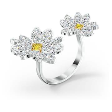 Otevřený prsten Eternal Flower, žlutý, smíšená kovová úprava - Swarovski, 5534940