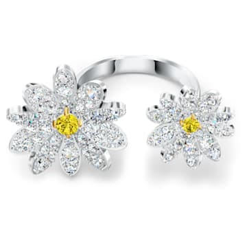 Eternal Flower-open ring, Geel, Gemengde metaalafwerking - Swarovski, 5534947