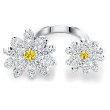 Eternal Flower Open Ring, Yellow, Mixed metal finish - Swarovski, 5534947