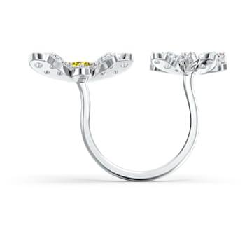 Otevřený prsten Eternal Flower, žlutý, smíšená kovová úprava - Swarovski, 5534948