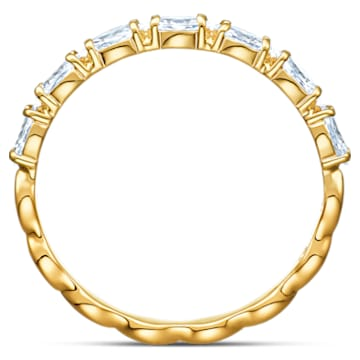 Vittore Marquise 戒指, 白色, 鍍金色色調 - Swarovski, 5535249