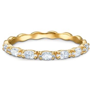 Vittore Marquise 戒指, 白色, 鍍金色色調 - Swarovski, 5535359
