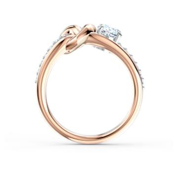 Lifelong Heart ring, Heart, White, Mixed metal finish - Swarovski, 5535407