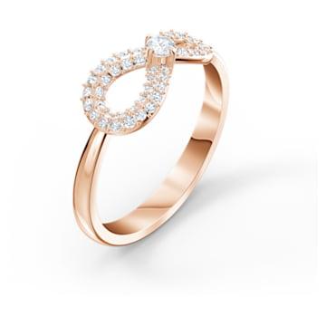 Anel Swarovski Infinity, branco, banhado a rosa dourado - Swarovski, 5535413