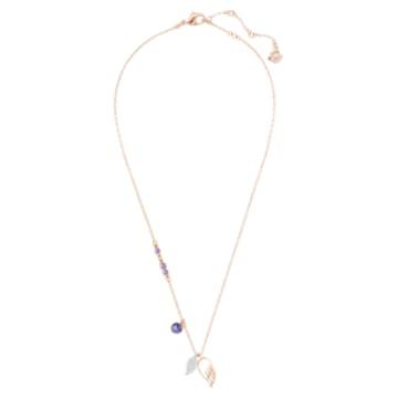 Colgante Swarovski Symbolic Wing, violeta, Baño en tono Oro Rosa - Swarovski, 5535523