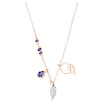 Swarovski Symbolic 链坠, 翅膀, 紫色, 镀玫瑰金色调 - Swarovski, 5535523