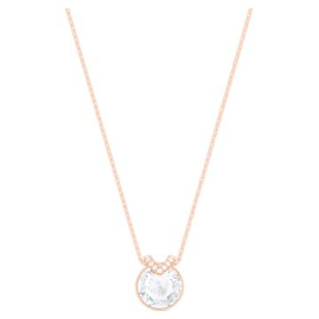 Colgante Bella V, blanco, Baño en tono Oro rosa - Swarovski, 5535528