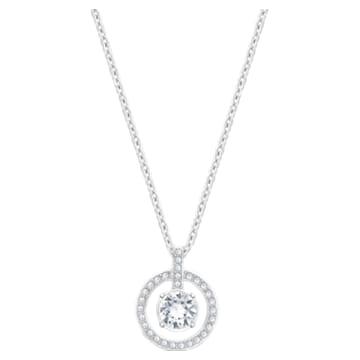 Lavender pendant, White, Rhodium plated - Swarovski, 5535545