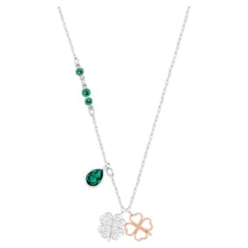 Swarovski Symbolic Clover Pendant, Green, Mixed metal finish - Swarovski, 5535554