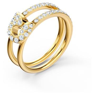 Anillo So Cool Pin, blanco, baño tono oro - Swarovski, 5535564