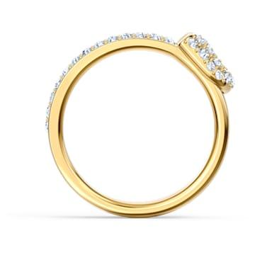 Prsten se špendlíkem So Cool, bílý, pozlacený - Swarovski, 5535566