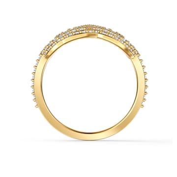 Swarovski Symbolic Lotus 戒指, 白色, 鍍金色色調 - Swarovski, 5535595