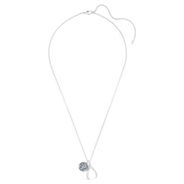 Sand medál, kék, ródium bevonattal - Swarovski, 5535712
