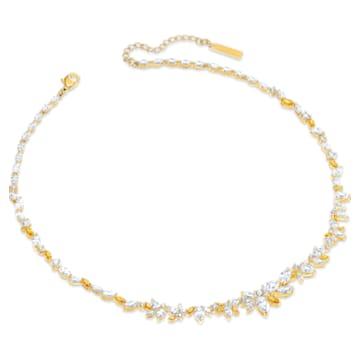 Botanical Necklace, White, Gold-tone plated - Swarovski, 5535775