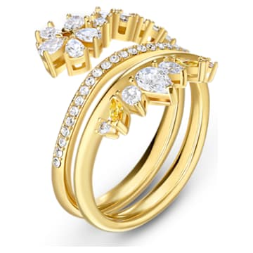 Botanical Ring, White, Gold-tone plated - Swarovski, 5535797
