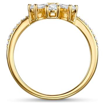 Botanical Flower Ring, weiss, vergoldet - Swarovski, 5535798