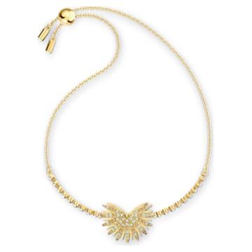 Braccialetto Swarovski Symbolic Palm, multicolore chiaro, placcato color oro - Swarovski, 5535827