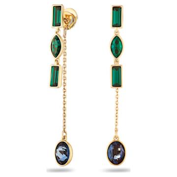 Beautiful Earth by Susan Rockefeller Pierced Earring Jackets, Short, Dark multi-coloured, Gold-tone plated - Swarovski, 5535884