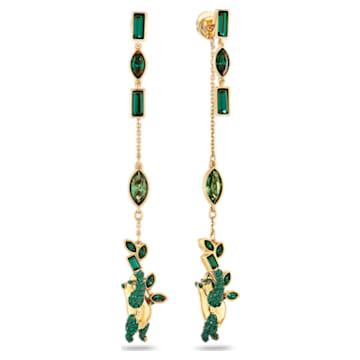 Orecchini Beautiful Earth by Susan Rockefeller, Panda, verde, placcato color oro - Swarovski, 5535886