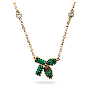 Beautiful Earth by Susan Rockefeller necklace, Bamboo, Green, Gold-tone plated - Swarovski, 5535891