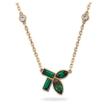 Collar Beautiful Earth by Susan Rockefeller, Bambú, Verde, Baño tono oro - Swarovski, 5535891