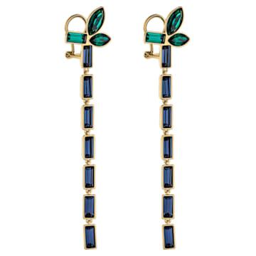 Beautiful Earth by Susan Rockefeller Pierced Earrings, Dark multi-coloured, Gold-tone plated - Swarovski, 5535892